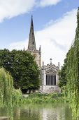 stock photo of william shakespeare  - Holy Trinity Church Stratford - JPG