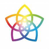 picture of harmony  - Rainbow gradient colored flower of venus - JPG