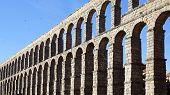 foto of aqueduct  - The Roman Aqueduct of Segovia - JPG