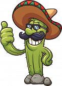 stock photo of cactus  - Mexican cartoon cactus - JPG