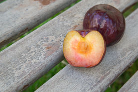 pic of laxatives  - One and a half plum with pit - JPG