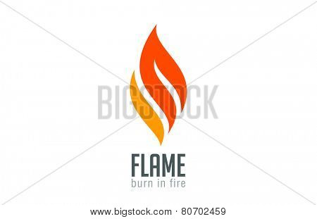 Fire flame Logo design luxury vector template. Red Burn Fashion Jewelry Logotype icon concept.
