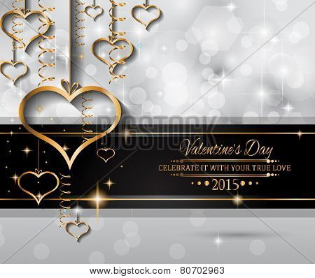 San Valentines Day background for dinner invitations, romantic letterheads, book covers, poster layout or couple themed parties.