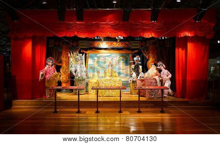 HONG KONG - OCT 18: Hong Kong Heritage Museum interior on October 18, 2014 in Hong Kong, China. Hong Kong Heritage Museum  is a museum of history, art and culture in Sha Tin