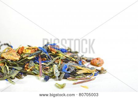 aromatic fruits and flower leaves tea