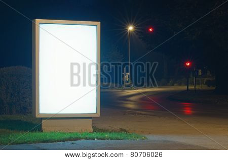 Advertising billboard at night