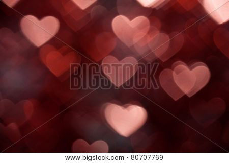 dark brown heart shape holiday photo background