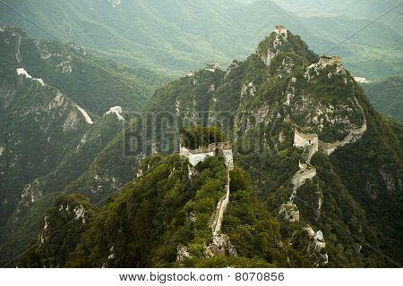 Jiankou Great Wall China Steep Mountains
