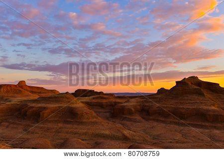 sunset desert view