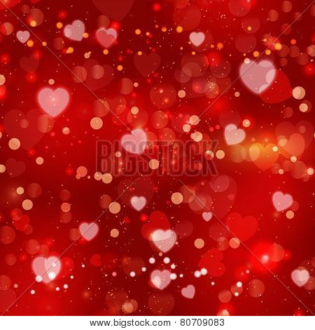 Decorative hearts background for Valentine's Day