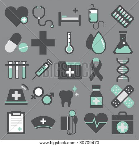 Healthcare Health Medicine Hospital Laboratory Icon Vector Concept