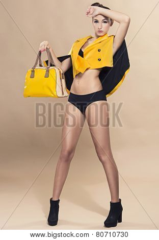 Fashion pinup girl posing