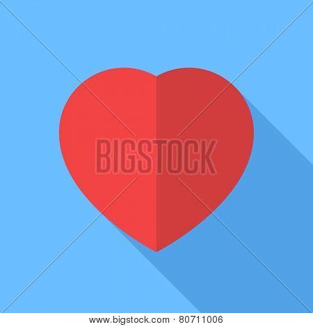 Heart icon. Flat Design vector icon