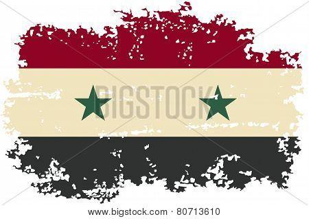 Syria grunge flag. Vector illustration.