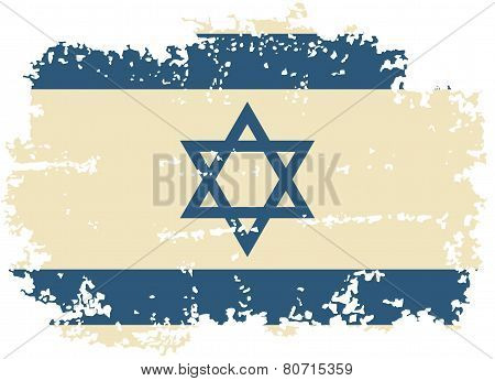 Israeli grunge flag. Vector illustration.