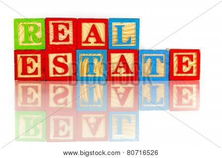 Real Estate Reflection On White Background