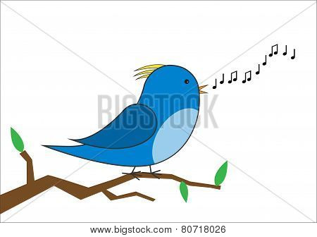 bird singing vector