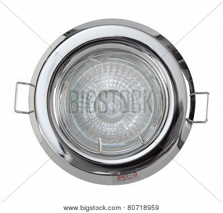 Ceiling Halogen Light Isolated On White Background With Clipping Path