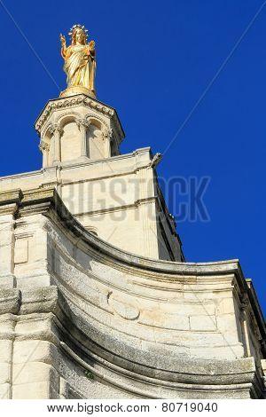 Virgin Mary Statue In Avignon,  France