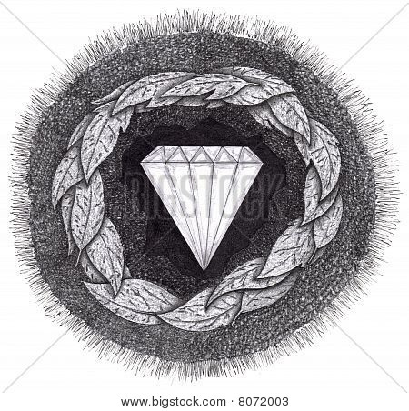 Diamond Formed Under Pressure, With Facets