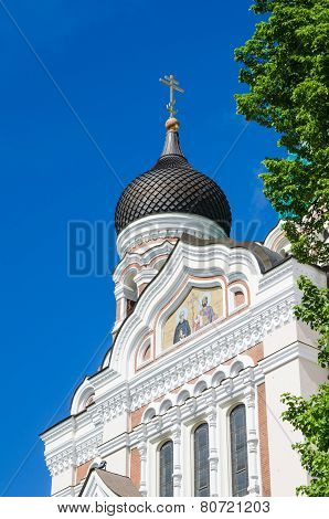 View Of The Dome Of Alexander Nevsky Cathedral In Tallinn