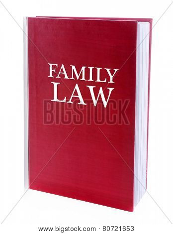 Family LAW book isolated on white