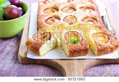 Coconut And Plum Cake