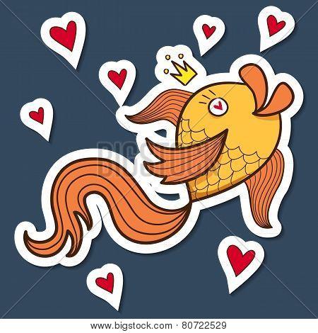Golden fish character.
