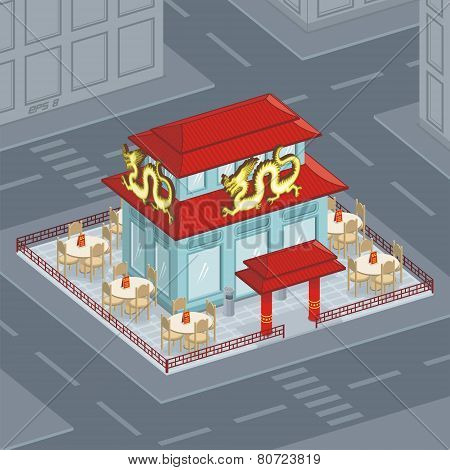 a facade is the Chinese restaurant