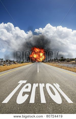 Road With Text Terror