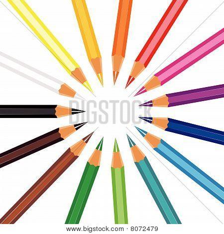 circle crayons