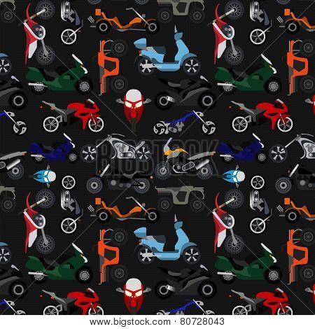Motorcycles background, pattern.