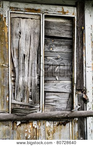 Old Abandoned Wooden Door