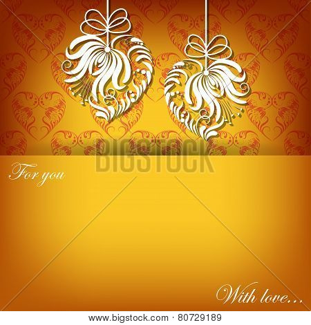 Creeting card with filigree ornament