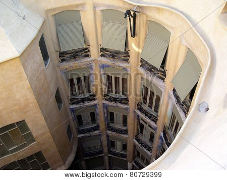 La Pedrera house of Gaudi, Barcelona, Spain