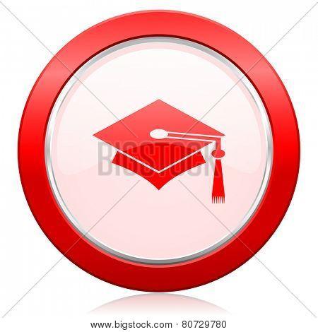 education icon graduation sign