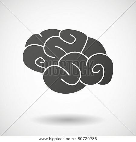 Brain  Icon On White Background