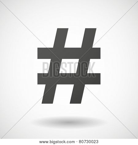 Hash Tag  Icon On White Background