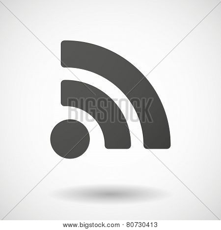 Rss  Icon On White Background