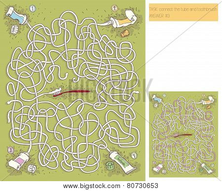 Toothpaste Maze Game