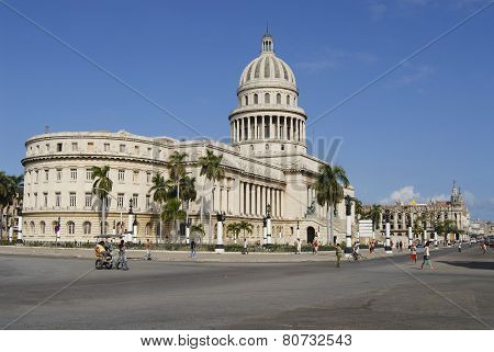 Capitolio building exterior in Havana city, Cuba.