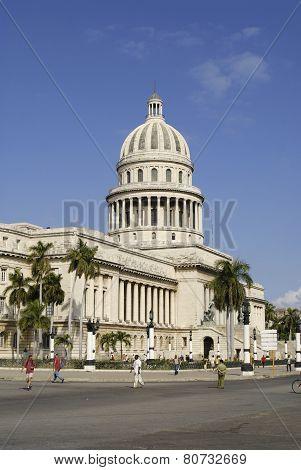 Capitolio building exterior in Havana city, Cuba.