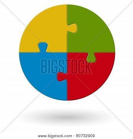 Round Puzzle - 4 Options