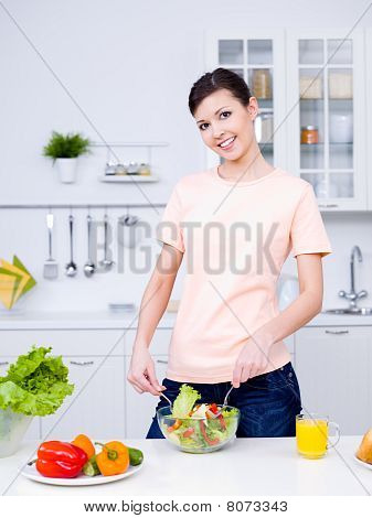 Beautiful Woman Cooking