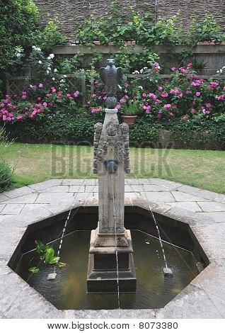 Fountain In Queen Eleanors Garden, Winchester, Uk