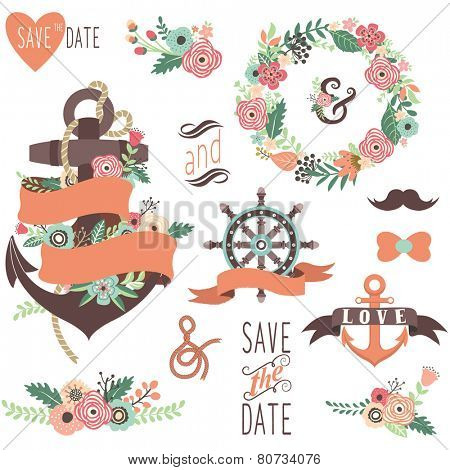 Nautical Floral Wedding Elements