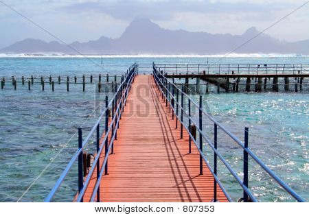 pontoon over lagoon