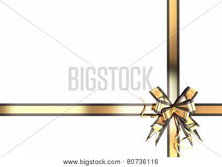 Gold Festive Ribbon With A Black Border