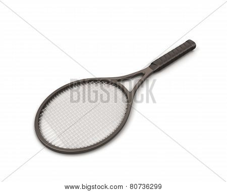 Racket Tennis Isolate On White