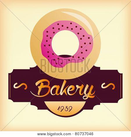 Donut bakery background